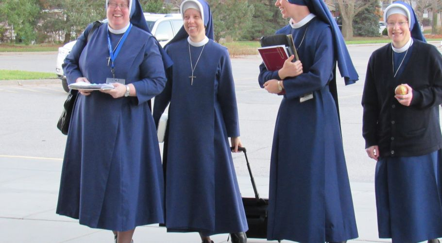 4 Sisters Walking into School